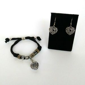 Charm Bracelet & Earrings